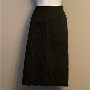 NWOT Talbots Basic Black Size 12W Skirt